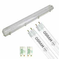 OSRAM - LED TL Armatuur met T8 Buis - SubstiTUBE Value EM 830 - Aigi Hari - 120cm Dubbel - 32.4W - Warm Wit 3000K