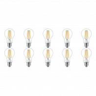 PHILIPS - LED Lamp 10 Pack - SceneSwitch Filament 827 A60 - E27 Fitting - Dimbaar - 1.6W-7.5W - Warm Wit 2200K-2700K | Vervangt 16W-60W