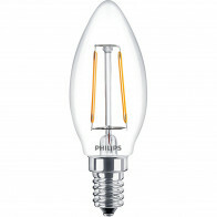 PHILIPS - LED Lamp Filament - Classic LEDCandle 827 B35 CL - E14 Fitting - 2W - Warm Wit 2700K | Vervangt 25W