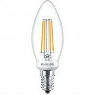PHILIPS - LED Lamp Filament - Classic LEDCandle 827 B35 CL - E14 Fitting - Dimbaar - 5W - Warm Wit 2700K | Vervangt 40W