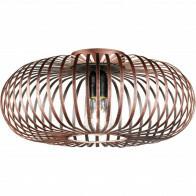 PHILIPS - LED Plafondlamp - SceneSwitch Filament 827 A60 - Trion Johy - E27 Fitting - Dimbaar - 1.6W-7.5W - Warm Wit 2200K-2700K - Rond - Industrieel - Mat Koper - Aluminium