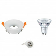 PHILIPS - LED Spot Set - CorePro 830 36D - GU10 Fitting - Dimbaar - Inbouw Rond - Mat Wit - 5W - Warm Wit 3000K - Ø85mm