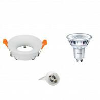 PHILIPS - LED Spot Set - CorePro 840 36D - GU10 Fitting - Inbouw Rond - Mat Wit - 4.6W - Natuurlijk Wit 4000K - Ø85mm