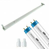 PHILIPS - LED TL Armatuur met T8 Buis - CorePro LEDtube EM 865 - Aigi Dybolo - 150cm Dubbel - 40W - Helder/Koud Wit 6500K | Vervangt 116W