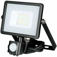 SAMSUNG - LED Bouwlamp 20 Watt met Sensor - LED Schijnwerper - Viron Dana - Warm Wit 3000K - Mat Zwart - Aluminium