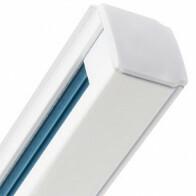 Spanningsrail - Facto - 3 Fase - Aluminium Mat Wit - 1m