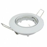Spot Armatuur GU10 - Inbouw Rond - Glans Wit Aluminium - Kantelbaar Ø90mm