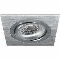 Spot Armatuur GU10 - Pragmi Borny Pro - Inbouw Vierkant - Mat Zilver - Aluminium - Kantelbaar - 92mm