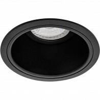 Spot Armatuur GU10 - Pragmi Minko Pro - Inbouw Rond - Mat Zwart - Aluminium - Verdiept - Ø90mm