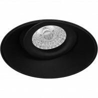 Spot Armatuur GU10 - Pragmi Nivas Pro - Inbouw Rond - Mat Zwart - Aluminium - Trimless - Kantelbaar - Ø150mm