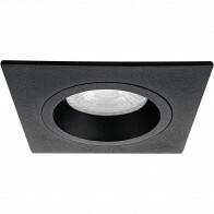 Spot Armatuur GU10 - Pragmi Rodos Pro - Inbouw Vierkant - Mat Zwart - Aluminium - 93mm