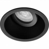 Spot Armatuur GU10 - Pragmi Zano Pro - Inbouw Rond - Mat Zwart - Aluminium - Kantelbaar - Ø93mm