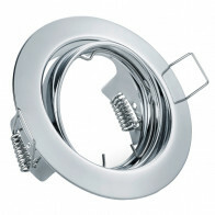 Spot Armatuur GU10 - Trion - Inbouw Rond - Glans Chroom Aluminium - Kantelbaar Ø83mm