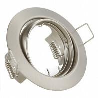 Spot Armatuur GU10 - Trion - Inbouw Rond - Mat Nikkel Aluminium - Kantelbaar Ø83mm