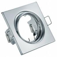 Spot Armatuur GU10 - Trion - Inbouw Vierkant - Glans Chroom Aluminium - Kantelbaar 80mm