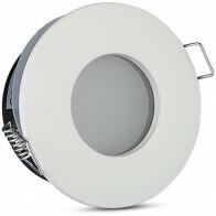Spot Armatuur GU10 - Waterdicht IP65 - Inbouw Rond - Mat Wit Aluminium/Glas - Ø82mm