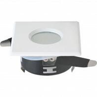 Spot Armatuur GU10 - Waterdicht IP65 - Inbouw Vierkant - Mat Wit Aluminium/Glas - 82mm