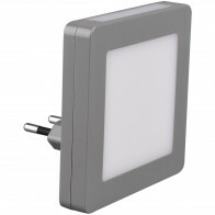 Stekkerlamp Lamp - Stekkerspot - Trion Hiko - 0.3W - Warm Wit 3000K - Vierkant - Mat Grijs - Kunststof