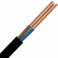 Stroomkabel - 3x2.5mm - 3 Aderig - 10 Meter - Zwart
