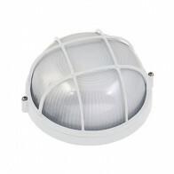 LED Tuinverlichting - Buitenlamp - Regibus - Wand - Aluminium Mat Wit - E27 - Rond