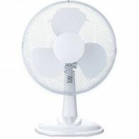 Ventilator - Aigi Lyno - 25W - Tafelventilator - Staand - Rond - Mat Wit - Kunststof