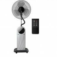 Ventilator met Water - Aigi Amoni - Mistventilator voor Binnen - Statiefventilator - Staand - Rond - Mat Zwart - Kunststof