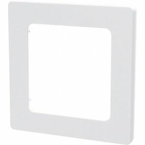 Afdekraam - Aigi Jura - 1-voudig - Vierkant - Kunststof - Wit
