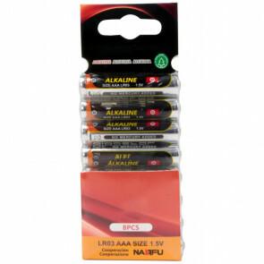 Batterij - Aigi Sio - AAA/LR03 - 1.5V - Alkaline Batterijen - 8 Stuks