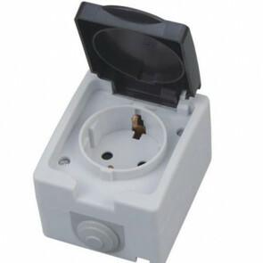 Buitenstopcontact - Opbouw - Enkel - Geaard - Waterdicht IP54