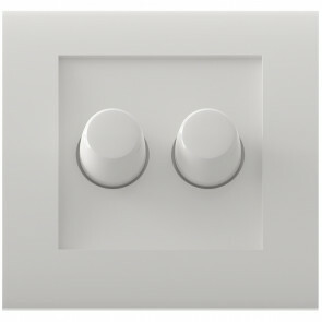 CALEX - LED DUO Dimmer - Dubbele Inbouwdimmer - Dubbel Knop - 3-70W - Wit