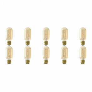 CALEX - LED Lamp 10 Pack - LED Buislamp - Filament T45 - E27 Fitting - Dimbaar - 4W - Warm Wit 2100K - Amber
