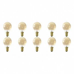 CALEX - LED Lamp 10 Pack - LED Kogellamp - Filament P45 - E14 Fitting - Dimbaar - 4W - Warm Wit 2100K - Amber