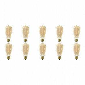CALEX - LED Lamp 10 Pack - Rustiek - Filament ST64 - E27 Fitting - Dimbaar - 4W - Warm Wit 2100K - Amber