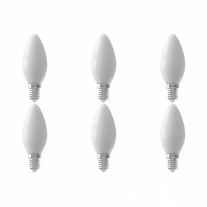 CALEX - LED Lamp 6 Pack - Filament B35 - E14 Fitting - 3W - Dimbaar - Warm Wit 2700K - Wit
