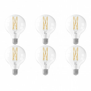 CALEX - LED Lamp 6 Pack - Filament G80 - E27 Fitting - Dimbaar - 4W - Warm Wit 2300K - Transparant Helder