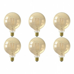 CALEX - LED Lamp 6 Pack - Globe - Smart LED G125 - E27 Fitting - Dimbaar - 7W - Aanpasbare Kleur - Goud