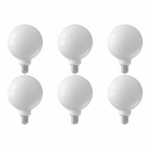 CALEX - LED Lamp 6 Pack - Globe - Smart LED G125 - E27 Fitting - Dimbaar - 7W - Aanpasbare Kleur - Mat Wit