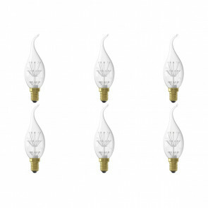 CALEX - LED Lamp 6 Pack - Kaarslamp BXS35 - E14 Fitting - 1W - Warm Wit 2100K - Transparant Helder