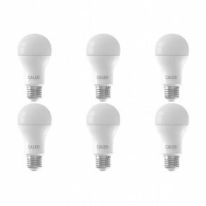 CALEX - LED Lamp 6 Pack - Smart LED A60 - E27 Fitting - Dimbaar - 9W - Aanpasbare Kleur - Mat Wit