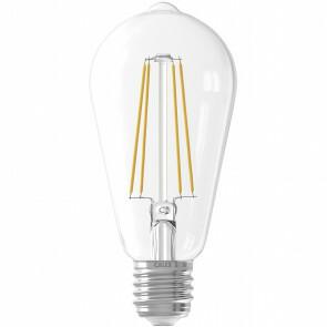 CALEX - LED Lamp - Filament ST64 - E27 Fitting - 6W - Dimbaar - Warm Wit 2300K - Transparant Helder