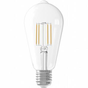 CALEX - LED Lamp - Filament ST64 - E27 Fitting - 6W - Warm Wit 2700K - Transparant Helder