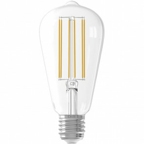 CALEX - LED Lamp - Filament ST64 - E27 Fitting - Dimbaar - 4W - Warm Wit 2300K - Transparant Helder