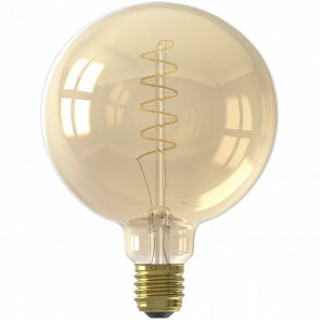 CALEX - LED Lamp - Globe - Filament G125 - E27 Fitting - Dimbaar - 4W - Warm Wit 2100K - Amber