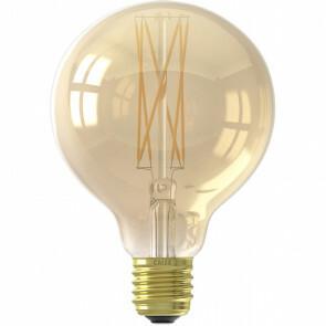 CALEX - LED Lamp - Globe - Filament G95 - E27 Fitting - Dimbaar - 4W - Warm Wit 2100K - Goud