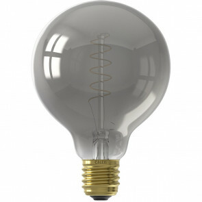 CALEX - LED Lamp - Globe - Filament G95 - E27 Fitting - Dimbaar - 4W - Warm Wit 2100K - Titanium