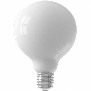 CALEX - LED Lamp - Globe - Filament G95 - E27 Fitting - Dimbaar - 8W - Warm Wit 2700K - Mat Wit