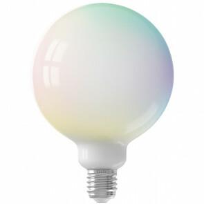 CALEX - LED Lamp - Globe - Smart LED G125 - E27 Fitting - Dimbaar - 5W - Aanpasbare Kleur - RGB - Mat Wit