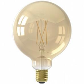 CALEX - LED Lamp - Globe - Smart LED G125 - E27 Fitting - Dimbaar - 7W - Aanpasbare Kleur - Goud