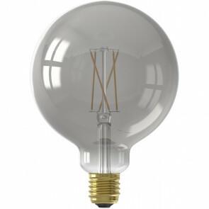 CALEX - LED Lamp - Globe - Smart LED G125 - E27 Fitting - Dimbaar - 7W - Aanpasbare Kleur - Grijs