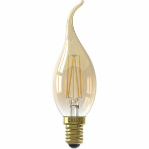 CALEX - LED Lamp - Kaarslamp Filament BXS35 - E14 Fitting - 3.5W - Warm Wit 2100K - Goud